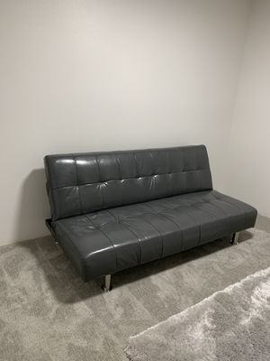 Faux leather futon in excellent condition sat in spare room for decor/ it reclines ( u must be able to come pick it up) PRICE FIRM for Sale in Kent, WA