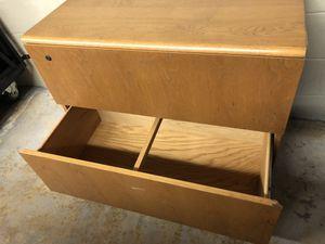 Oak 2-drawer storage cabinet. for Sale in Kalamazoo, MI