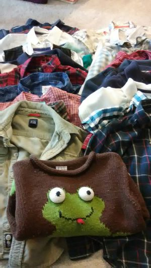 Boys size 4 shirts x20 + 3 coats for Sale in Manassas, VA