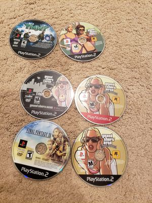 6 ps2 games, playstation, grand theft auto for Sale in Fresno, CA