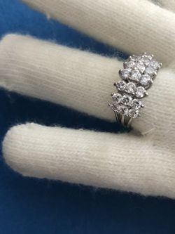 3 Rows Cluster Anniversary Ring, AFS,Thai, Size 8 for Sale in Naperville,  IL