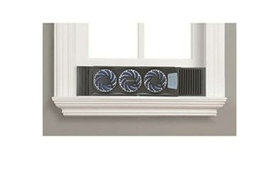 Bionaire Thin Window Fan with Comfort Control Thermostat, Black,3 Baldes for Sale in Nyack,  NY