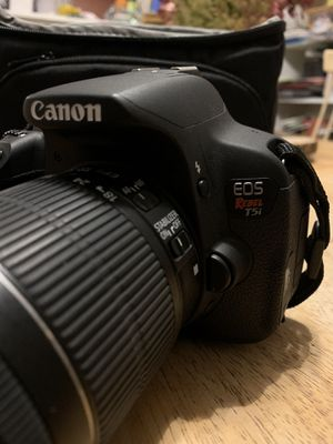 Canon EOS Rebel T5i with 18-55 mm lense and Camera Bag for Sale in Coventry, CT