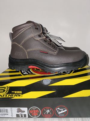 Brand new Sketcher work boots size 11 steel toe for Sale in Chicago, IL