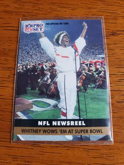 Whitney Houston Superbowl Card for Sale in Freetown, MA