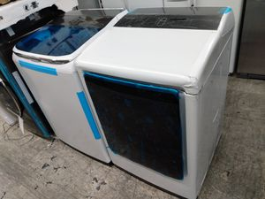 Samsung white washer and dryer bundle set deal for Sale in Long Beach, CA