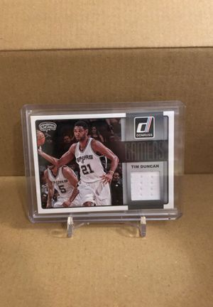 Tim Duncan game used jersey relic basketball card for Sale in Park Ridge, IL