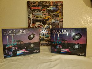 Rock lights led multicolor 8pc an 4pc for Sale in Anaheim, CA