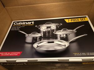 Cuisinart 77-7 Chef's Classic Stainless 7-Piece Cookware Set for Sale in Boston, MA