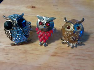 Trio Of Owl Rings for Sale in Vacaville, CA