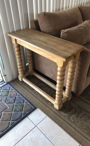 Solid Wood Round Spindle Leg Side Console Table for Sale in Fort Lauderdale, FL