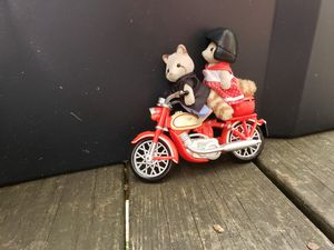 Calico Critters MULBERRY RACCOON FAM Grandparents motorcycle Retired F for Sale in Canterbury, CT