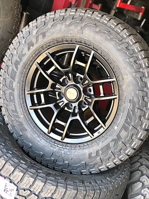 TRD BLACK RIMS & FALKEN ALL TERRAIN for Sale in Norwalk, CA