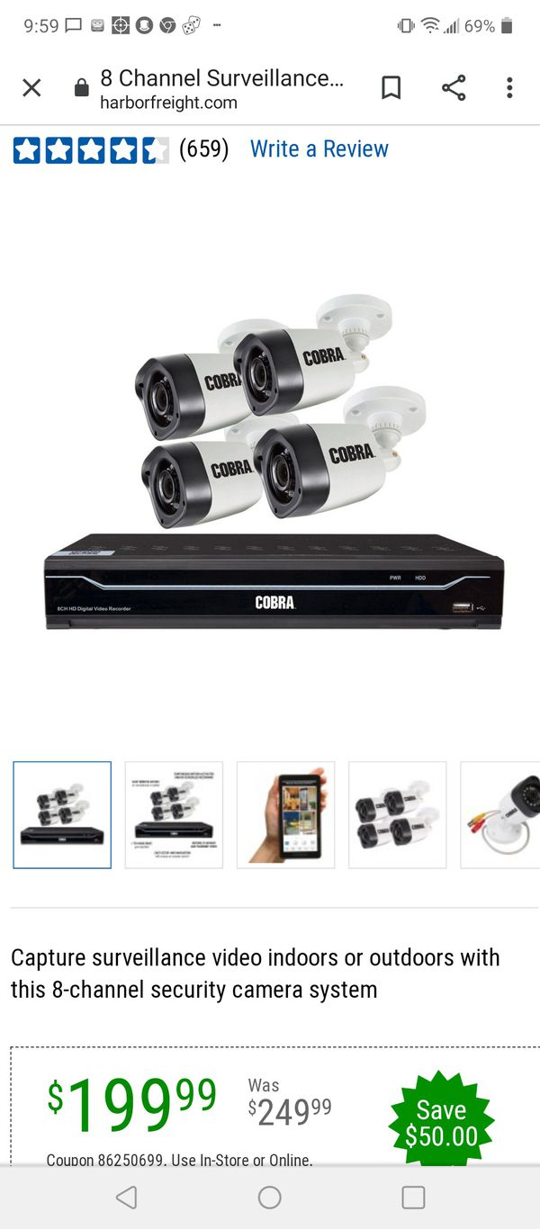 8 cameras with a DVR new never been hooked up just opened