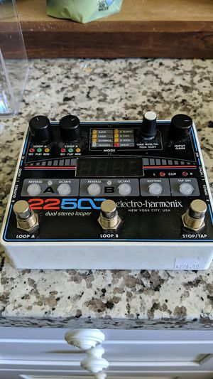 Electro Harmonix 22500 looper guitar and mic pedel for Sale in Portland, OR