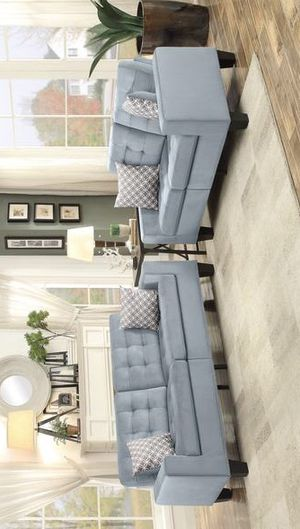 HOT DEAL ✅ /lantana-gray-classic-living-room-set-with-pillows- sofa and loveseat for Sale in Houston, TX