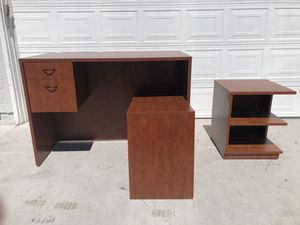 Large Office Desk and Shelf for Sale in Las Vegas, NV