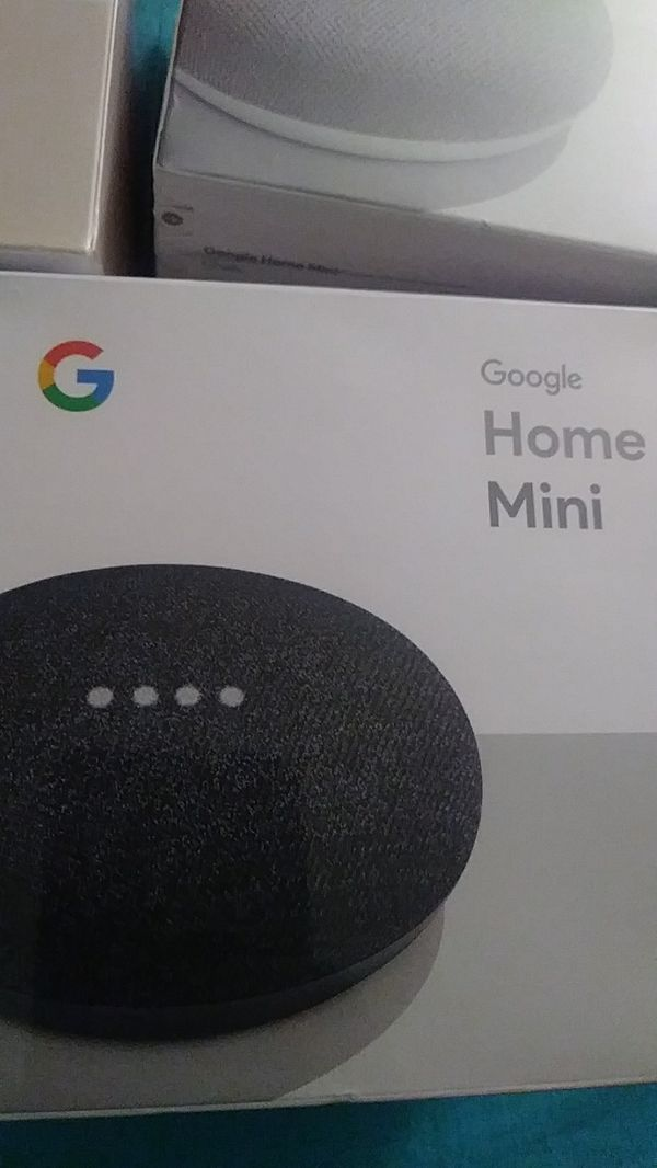 Google home minis 3 colors brand new 40 obo