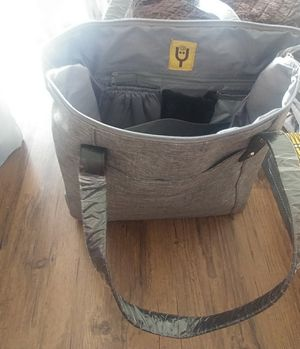 New gray diaper bag and changing pad for Sale in La Vergne, TN