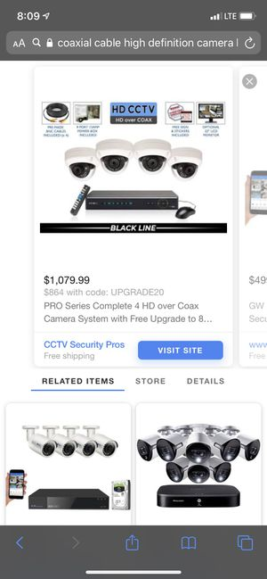 Coaxial high definition camera kits for Sale in Vernon, CA