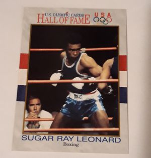 Sugar Ray Leonard collectable card for Sale in Moreno Valley, CA