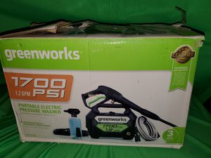 GREENWORKS 1700 PSI ELECTRIC PRESSURE WASHER for Sale in Beaumont, CA