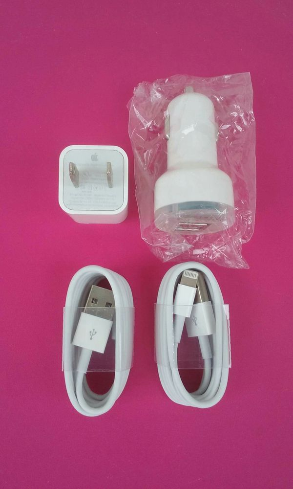 Apple Combo/Brand New Original Apple IPhone Charger and Car Charger