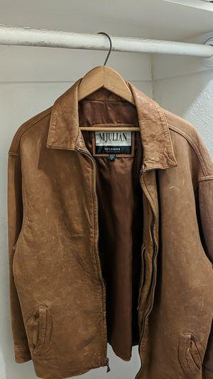 Tan Leather Jacket (M Julian) for Sale in Oakland, CA