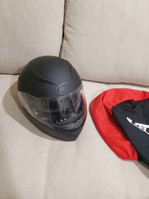 Black Matte Modular Motorcycle helmet with sun-shield, DOT and ECE approved, size small,+ bag for Sale in Los Angeles, CA