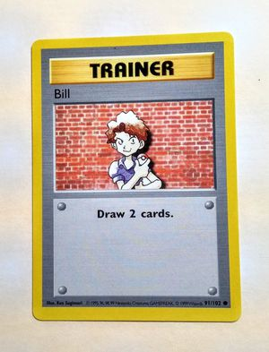 1999 Pokemon Card Trainer Bill Base Set 91/102 Mint for Sale in Fenton, MO