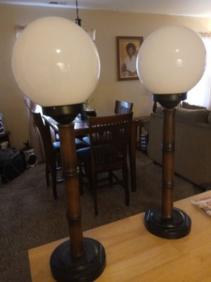 2 lamps. Very good shape. Work as they should. for Sale in Peoria, IL
