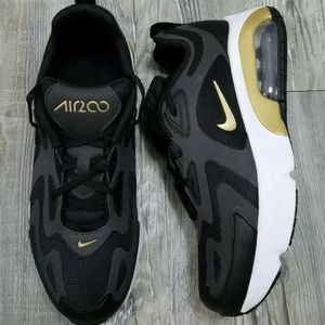 Nike Air Max 200 (GS) Running Shoes Black/Gold-Anthracite 7y Women's 8.5 NEW for Sale in Corona, CA