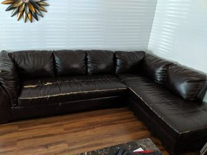 Sectional couch and recliner for Sale in San Jose, CA