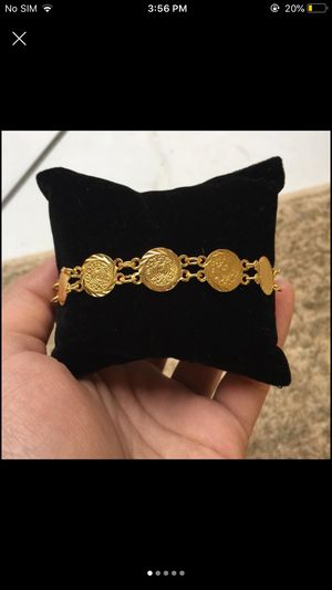 Gold plated coin pound bracelet for Sale in Silver Spring, MD
