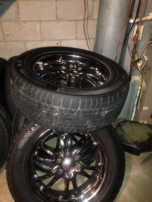 """20"""" rims and tires rims fit 6 lug Chevy Tahoe suburban pattern. for Sale in Atlanta, GA"""