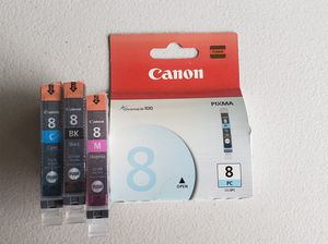 Canon Printer Ink. Size 8. 4 Separate Colors NEW for Sale in Oviedo, FL