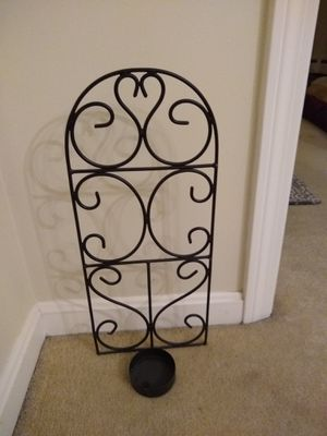 Wall mount hanging pillar candle holder for Sale in Sterling, MA