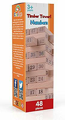 Timber Tower Wood Block Stacking Game - Number Mach playset(48 pieces) for Sale in Houston, TX