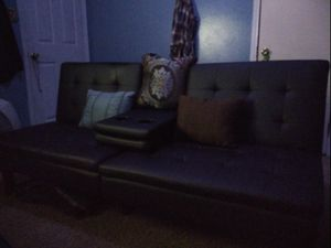 Futon with drop-down armrests for Sale in Pontotoc, OK