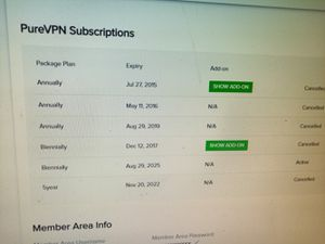 10 connection purevpn for sell for Sale in South Windsor, CT