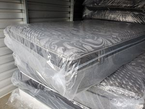 RESTONIC NEWCASTLE QUEEN PILLOWTOP MATTRESS SET for Sale in Douglasville, GA