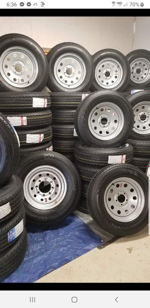 NEW TRAILER TIRES/WHEELS STARTING AT $70+TAX AND UP TIRE/RIM ASSEMBLY SEE BELOW FOR SIZES AND PRICES for Sale in Douglasville, GA