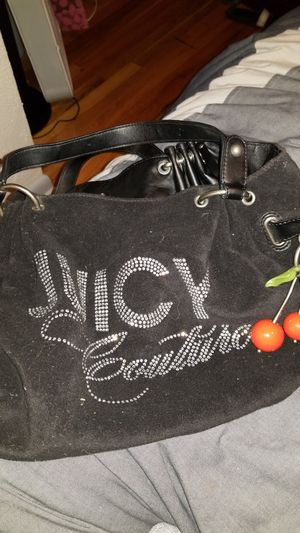 Juicy Couture Purse-Blk w/cherry charm for Sale in Denver, CO