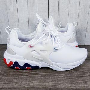 Nike React Presto USA AV2605-102 White Red Blue Running Shoes Men's Size 10.5 for Sale in NEW PRT RCHY, FL