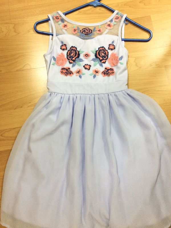 Speechless Lavender Purple Girl's Dress With Flowers Size 10