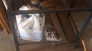 20 gallon fish tank plus stand and accessories for Sale in Yucca Valley, CA