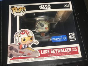 Luke Skywalker with x wing funko pop for Sale in Upland, CA