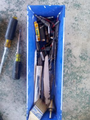 Assorted drivers bits drill bits screw drivers for Sale in Palm Beach Shores, FL