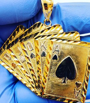 10k gold cards charm for Sale in Newington, CT