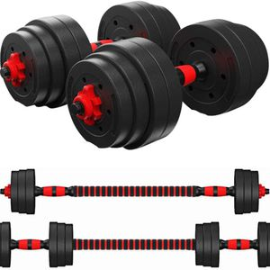 KAC Adjustable Dumbbells Barbell 2 in 1 with Connector, Lifting Dumbells for Body Workout Home Gym, Set of 2 for Sale in Los Angeles, CA